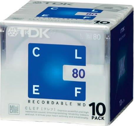『TDK MD CLEF 80分10枚パック MD-CL80X10N』のトップ画像