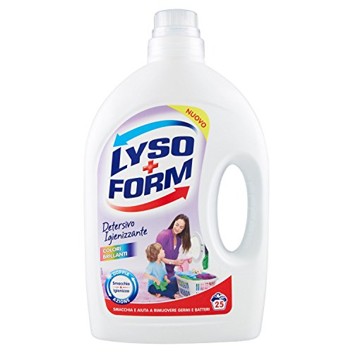 Lysoform Colori Brillanti Detersivo Igienizzante per Bucato, 25 Lavaggi, 1620ml