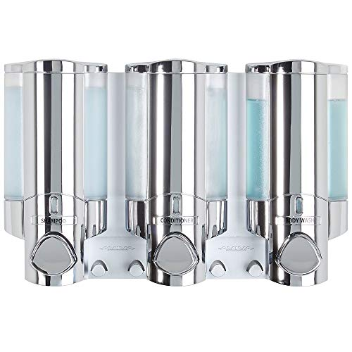 Better Living Products 76345-1 Aviva Three Chamber Dispenser, Chrome