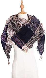 VIOAPLEM VIOAPLEM Gift Lattice Geometric Scarf Women Imitation Cashmere Winter Warm Lattice Shawl