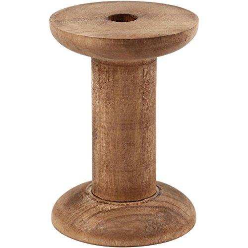 Creativ - Set di 10 rocchetti in legno, 70 x 20 mm, diametro foro: 10 mm