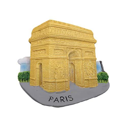 3D Arc de Triomphe Paris France Réfrigérateur Réfrigérateur Aimant Touristique Souvenirs À La Main Résine Artisanat Magnétique Autocollants Maison Cuisine Décoration Voyage Cadeau