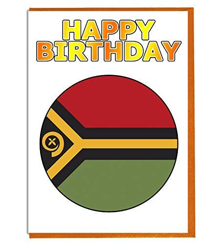 Vanuatu Vlag - Verjaardagskaart - Vriend - Familie - Collega - Mate - Boss - Loved One