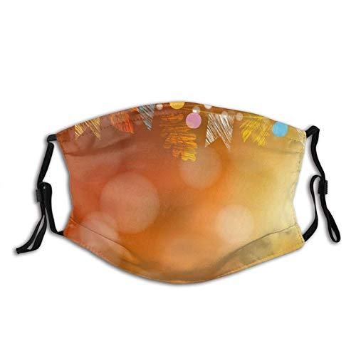 FQF Cubierta de nariz reutilizable unisex, tarjeta de otoño, decoración de fiesta en el jardín, vector de roble de arce, cubierta de boca antipolvo, orejeras ajustables con filtro reemplazable