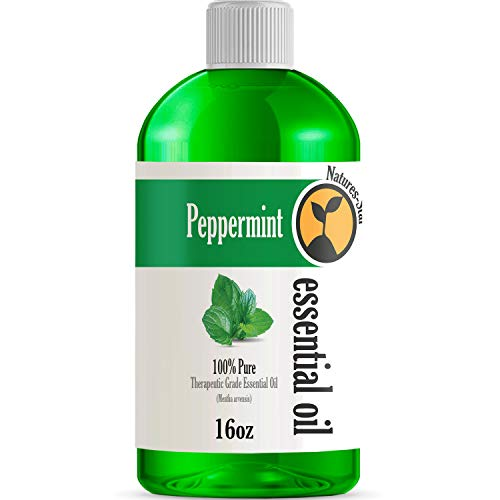 16oz - Bulk Size Peppermint Essential Oil (16 Ounce Bottle) -