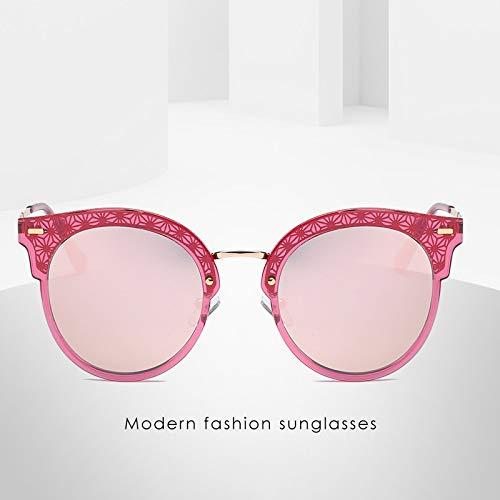 Persönlichkeit HD Sonnenbrille Polarisierer Sonnenbrille Retro Boomer Straße schießen männliche und weibliche Äquivalente 143 * 147mm Rote Box Kirschblüte Pulver