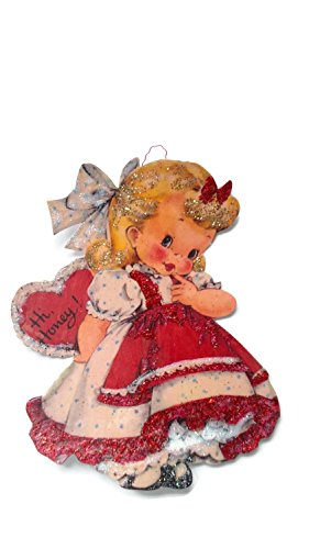 Valentine's Day Card Ornament Decoration Honey Girl Handmade Holiday Gift