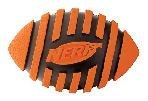 Nerf Dog Squeak Espiral Football: diámetro 8,9 cm