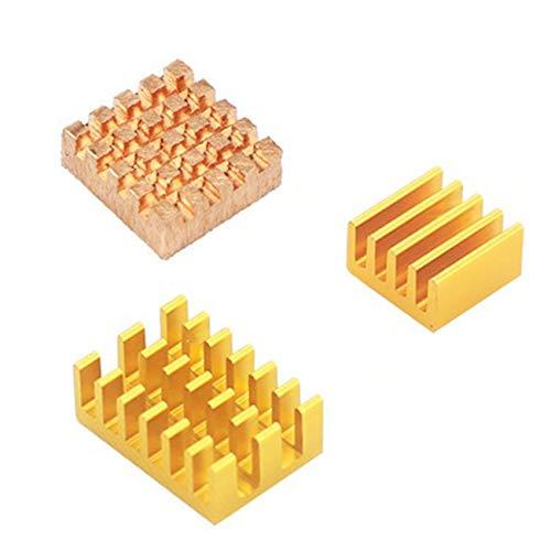Ashley GAO Kühlkörper für Raspberry Pi 4 Modell B, 3 Stück, Raspberry Pi 4B Kupfer-Kühlkissen Kühlkörper Kühler