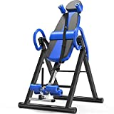 SPORTEC Heavy Duty Inversion Table with Headrest & Adjustable Protective Belt Back Stretcher Machine for Pain Relief Therapy