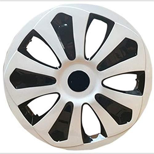 XJWWW Juego de cubiertas de rueda compatible con cubiertas de rueda de 13/14/15 pulgadas para modificar piezas de coche (negro plateado 1 unidad) JWOMO (tamaño: 14 pulgadas)