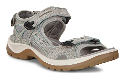 ECCO Women's Yucatan outdoor offroad hiking sandal, ice flower/cocoa brown, 4-4.5 M US