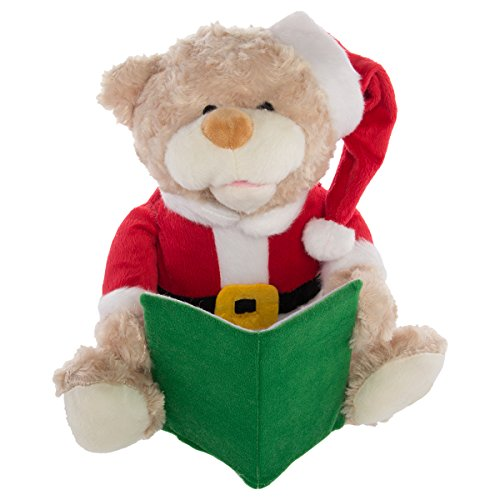 Simply Genius Talking Christmas Teddy Bear, Christmas Bear: Animated Christmas Decorations, Animated Christmas Plush, Animated Stuffed Toys, Christmas Stuffed Animals, Talking Toys