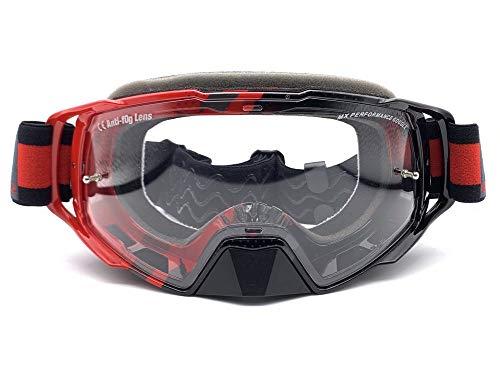 MT – lunettes Cross Enduro mx-evo Performance Rouge/Noir