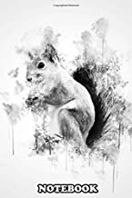 Notebook: Squirrel In Black And White Watercolor , Journal for Writing, College Ruled Size 6
