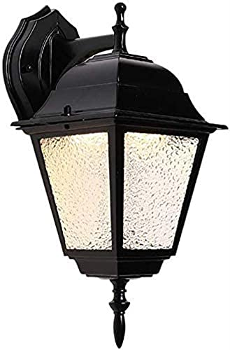 XQMY Simple And Cool Wall Lamp Outdoor Wall ternsof nce Aluminum Glassla Community e Exterior Night Street Light Household Wall Mounted Courtyard Anti-Oxida