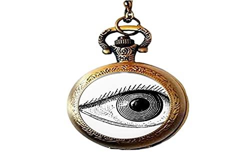 Vintage Ilustración Médica Anatómica Ojo De Cristal Foto De Bolsillo Reloj Collar Hombre Mujer Joyería Como Regalos