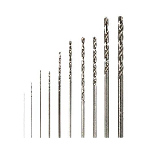 Haven Shop HSS Spiralbohrer Bohrer-Bit,10 Stücke High Speed Weiß Stahl Spiralbohrer Set, Für Dremel Drehwerkzeug
