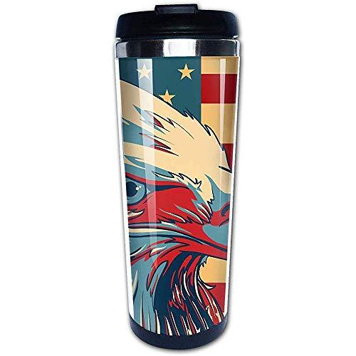 JULOE Amerikanischer patriotischer Adler-Kahler Kaffeetasse-Edelstahl-Wasser-Flaschen-Schalen-Reise-Becher-Kaffeebecher