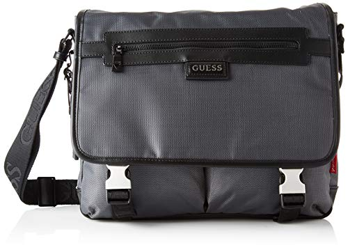 Guess Dan Messenger, Bags Briefcase Uomo, Grey, One Size