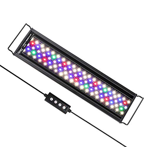 hygger Advanced Full Spectrum LED Aquarium Light with 24/7 Lighting Cycle 6 Colors 5 Intensity Customize Fish Tank Light for 18-24 in Freshwater Planted Tank with Timer
