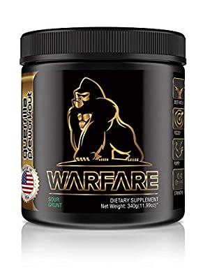 Guerrilla WARFARE Pre Workout Thermogenic Fat Burner Powder, Energy, 40 Servings, Weight Loss