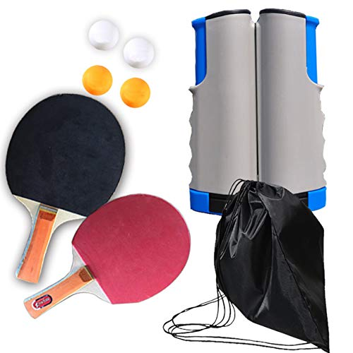Read About Ping Pong Paddle Set with Retractable Net (Bracket Clamps), Balls, Table Tennis Accessori...