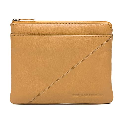 Zerimar Funda Tablet Cremallera | Funda Tablet Cuero | Portadocumentos Viaje | Portadocumentos Cuero | Medidas: 23x28 cm