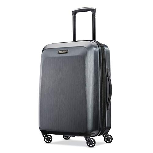 American Tourister Moonlight Hardside Expandable Luggage with Spinner Wheels, Anthracite, Carry-On 21-Inch