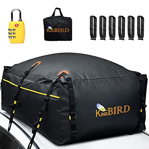 KING BIRD 100% Waterproof Roof Cargo Carrier Bag with Built-in Non-Slip Mat...