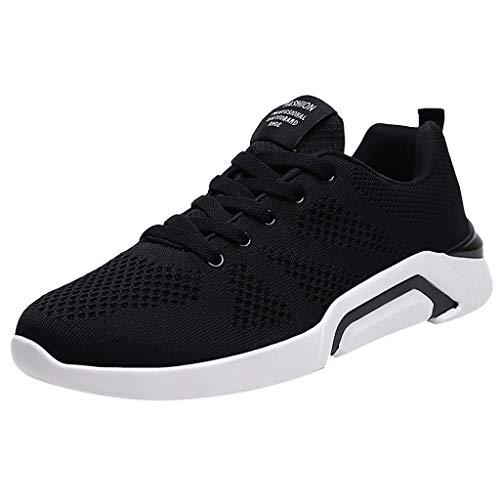 OPAKY Zapatos de Seguridad para Hombre con Puntera de Acero Calzado de Industrial y Deportiva Zapatos Voladores de Malla Tejida Zapatos Casuales con Cordones Zapatos Deportivos 🔥