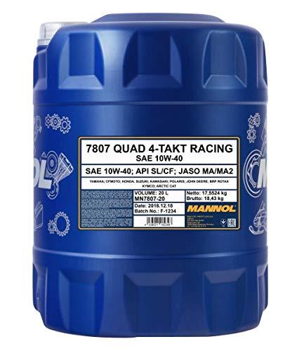 MANNOL 1 x 20L 7807 Quad 4-Takt Racing/10W-40 MA2 ATV Motorenöl