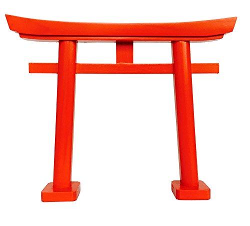 Shinto-Schrein, Kamidana, kleines rotes Torii-Tor mit geraden Beinen, aus Japan, von Kamidana-no-Sato