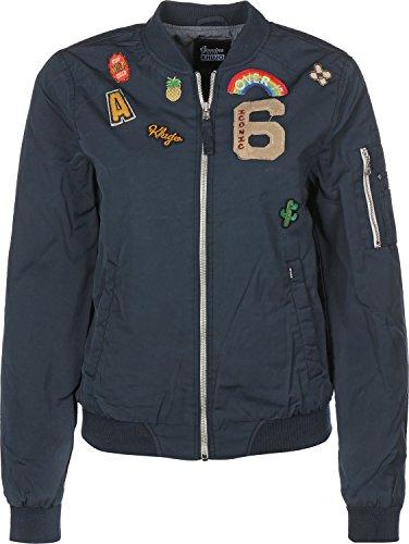 khujo Damen Nauru WB Washed Nylon Jacket Jacke, Blau (Blue 400), 44 (Herstellergröße:L)