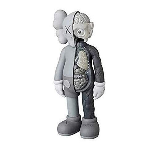 "WINDAYT 8"" 20cm Prototype KAWS Original Dissected Companion Model Art Toys Action Figure Collectible Model Toy (Gray)"