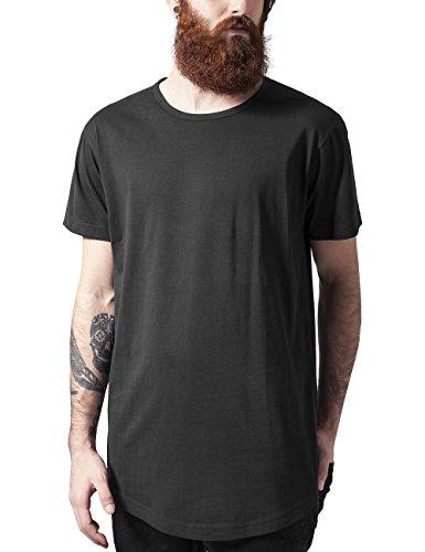 Urban Classics Peached Shaped Long tee Camiseta, Negro (Black 7), M para Hombre