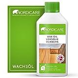 Nordicare Olio di cera dura [500 ml] incolore per la cura del legno I cera per legno incolore per diversi tipi di legno I cera olio per legno, olio per la cura del legno