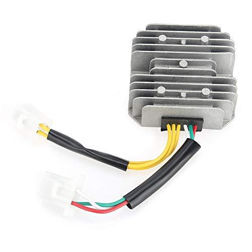 SANON Los Accesorios del Rectificador del Regulador de Voltaje de La Motocicleta Encajan para GY6 125Cc 150Cc 6-Wire