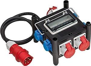 Brennenstuhl Compacte rubberen stroomverdeler/rubberen verdeler (2m kabel, 2xCEE 400V/16A, 1 x CEE 400V/32A, 4x 230V/16A, ...
