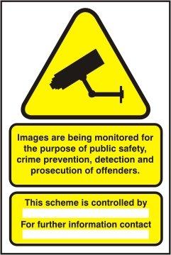 DONNÉES COMPaTIBLE CAMÉRA DE SURVEILLANCE CCTV SIGNE PaNNEAU RIGIDE FORMAT A4