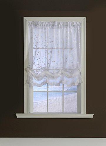 Commonwealth Grandeur Sheer Balloon Curtain, White