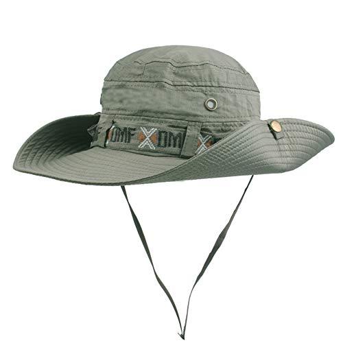 BIGBOBA Sombrero de Pescador Anti-UV Ajustable Sombrero Redondo Sombrero de montaña Acampar al Aire Libre Senderismo Viajes para Hombres Mujeres (Verde)