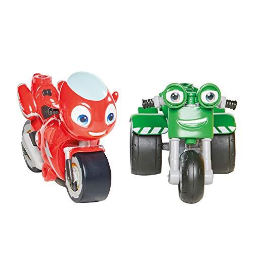 Ricky Zoom T20044 Ricky Zoom & DJ Paquete de 2, Figuras de acción de 3 Pulgadas, Juguete de Moto para niños y niñas de 3 años +