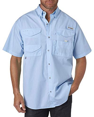 Columbia Men's Bonehead Short-Sleeve Work Shirt, White Cap Blue, 3XL