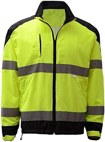 GSS Safety Premium Class 3 Topics on TV Windbreaker Jacket With Black Zipper gift