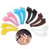6 Paare Komfortable Silikon-Anti-Rutsch-Halter für Gläser Zubehör Ohrbügel Brillenbügel Tip Sport