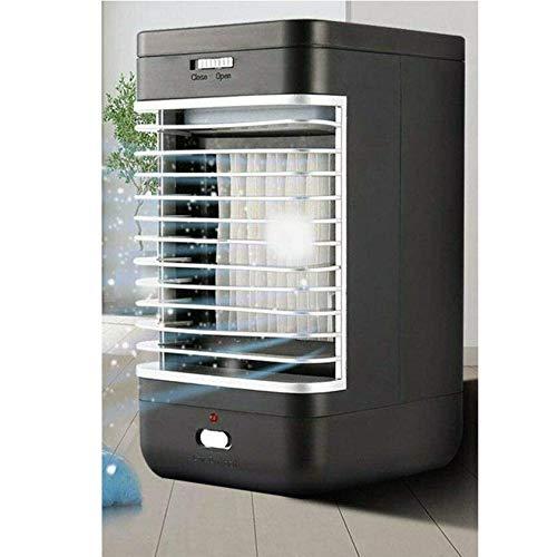 Refrigerador de Aire Aire Acondicionado Portátil, 3 en 1 Ventilador Aire Acondicionado, Humidificador y Purificador, Air Cooler Fan con Mango, 2 Velocidades para Hogar Oficina Acampada Ventilador
