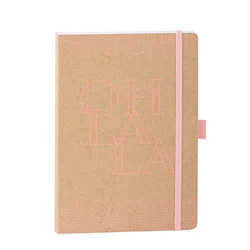 ARTEBENE Notizbuch Notizheft Schreibheft Schreibbuch Kraft Oh la la A5