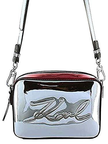 Karl Lagerfeld Accessoires Femme Sac Camera Bag K/Signature Gloss Argenté Automne-Hiver 2019