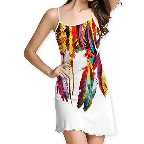 Señoras Verano Dulce Pequeño Fresco Impresión Digital Vestido De Tirantes Cintura Chaleco Falda Correa De Hombro Delgada Cuello Redondo Falda De Playa Vestido De Tirantes XXL